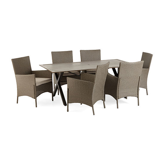 Outdoor Oasis Lakehurst Slat Top Patio Dining Table