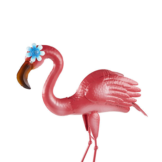 Outdoor Oasis Metal Flamingo Yard Art
