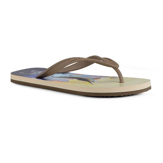 Guy Harvey Mens Cayman Marlin Sunset Flip-Flops