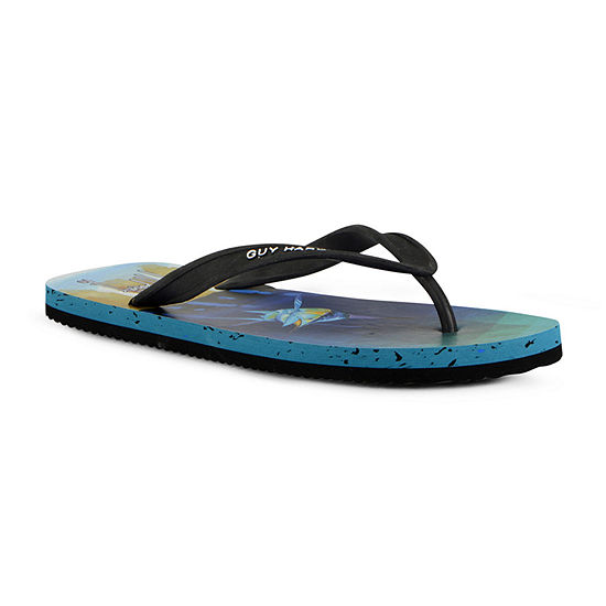 Guy Harvey Mens Cayman Marlin Prism Flip-Flops