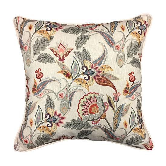 Home Fashions International Multi Jacobean Square Throw Pillow
