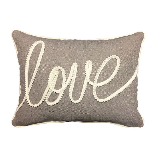 Home Fashions International Love Applique Rectangular Throw Pillow