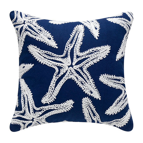 Star Fish Square Throw Pillow