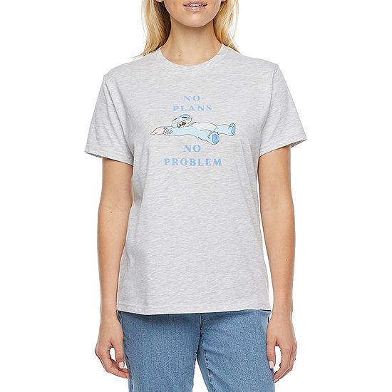 Mighty Fine-Juniors Table Tees 7.31 Womens Crew Neck Short Sleeve Graphic T-Shirt