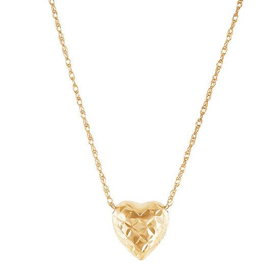 Womens 10K Gold Heart Ninjago Pendant Necklace