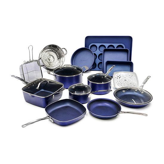 Granite Stone 20-pc. Aluminum Dishwasher Safe Non-Stick Cookware Set