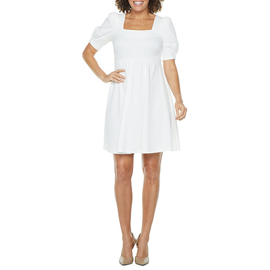 Vivi By Violet Weekend Short Sleeve Babydoll Dress with Coordinating Face Mask