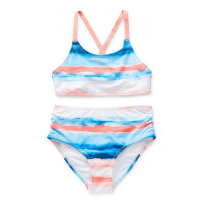 Peyton & Parker Striped Bikini Set Swimsuit Set