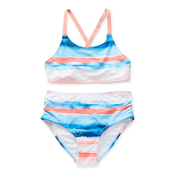 Peyton & Parker Little & Big Striped Bikini Swimsuit Set