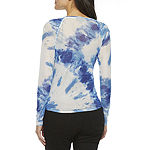 Bold Elements Womens Round Neck Long Sleeve Blouse