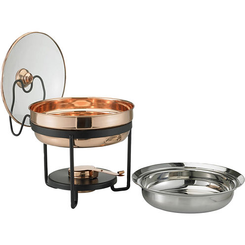 Old Dutch International® Décor Copper Chafing Dish With Glass Lid