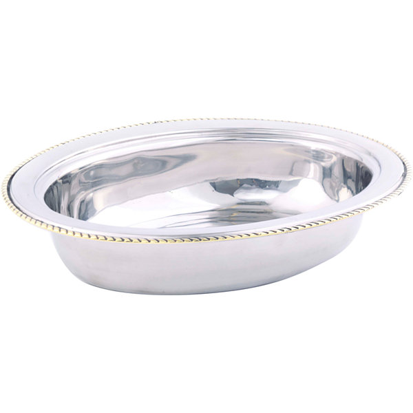 Old Dutch International® 6-qt. Stainless Steel Oval Food Dish