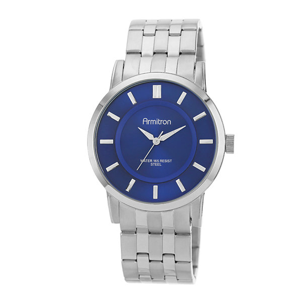 Armitron® All Sport Mens Silver-Tone Sunray Watch