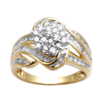 1 CT. T.W. Diamond Cluster Ring