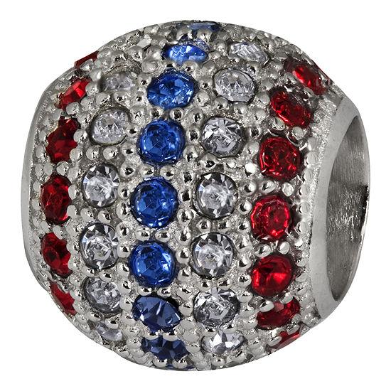 Forever Moments™ Pavé Patriotic Crystal Charm Bracelet Spacer Bead