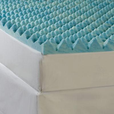 "Comforpedic from Beautyrest® 4"" Gel Memory Foam Sculpted Topper"