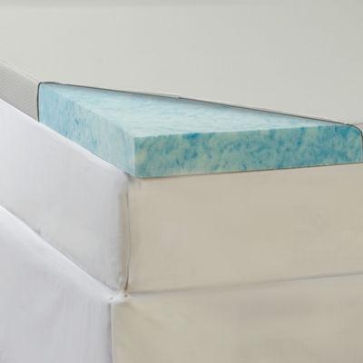 "Comforpedic from Beautyrest® 3"" Gel Memory Foam Topper with Waterproof Cover"