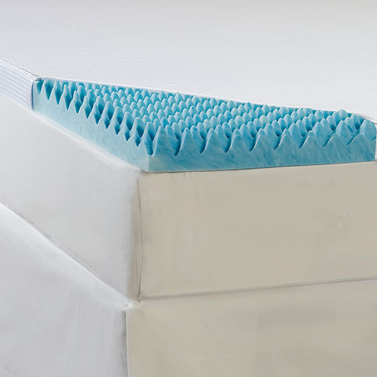 Comforpedic From Beautyrest 4 Supreme Gel Memory Foam Sculpted Topper With Cover