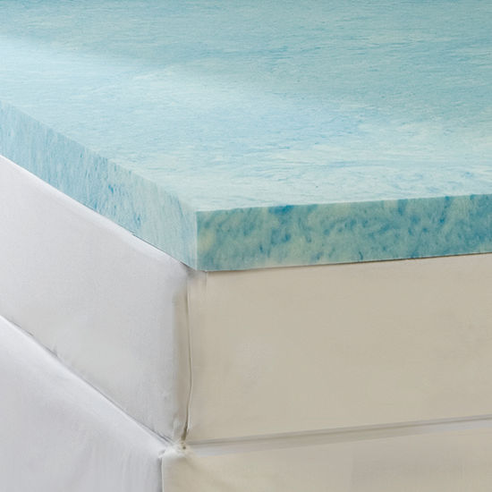 "Comforpedic from Beautyrest® 4"" Gel Memory Foam Flat Topper"