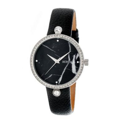 Bertha Frances Womens Black Strap Watch-Bthbr6401