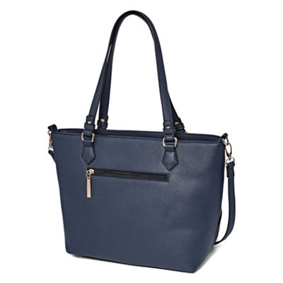 Louis Cardy Front Woven Detail Double Handle Tote Bag