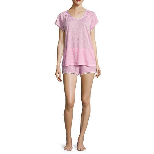 Pj Couture Shorts Pajama Set-Juniors