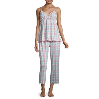 Pj Couture 2-pack Plaid Pant Pajama Set-Juniors