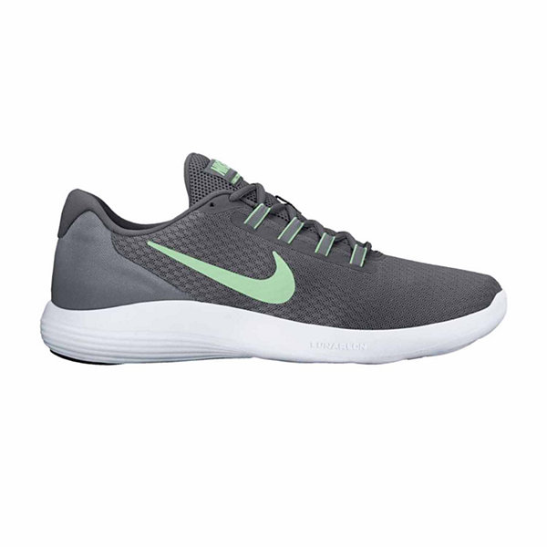 Nike Lunar Converge Trainers Womens Grey/Green Sneakers Sports Shoes Footwear