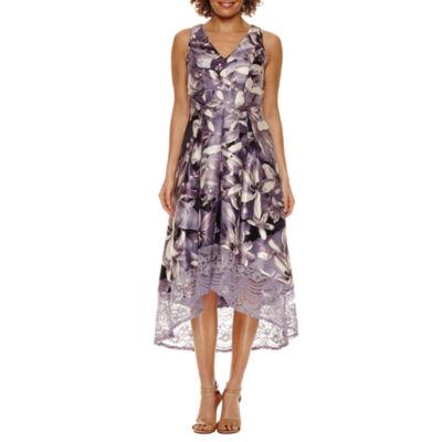 Melrose Sleeveless Fit & Flare Dress-Petite