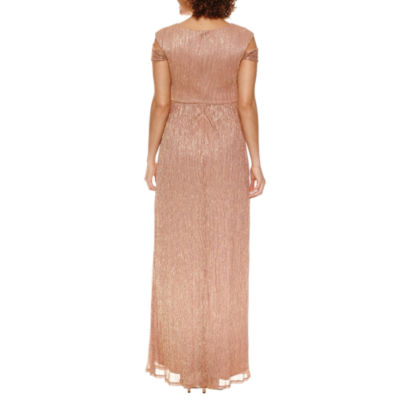 Melrose Short Sleeve Evening Gown-Petites