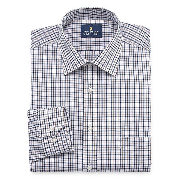 Stafford easy care broadcloth big tall long sleeve dress for Stafford big and tall shirts
