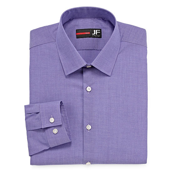 JF J.Ferrar Mens Easy-Care Stretch Long Sleeve Big and Tall Dress Shirt