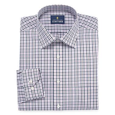Stafford easy care broadcloth big tall long sleeve for Stafford big and tall shirts