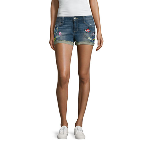 "Arizona 2 1/2"" Denim Shorts-Juniors"