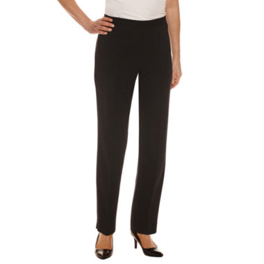 Alfred Dunner Woven Flat Front Pants