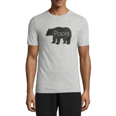City Streets Short Sleeve Crew Neck Pattern T-Shirt-Mens