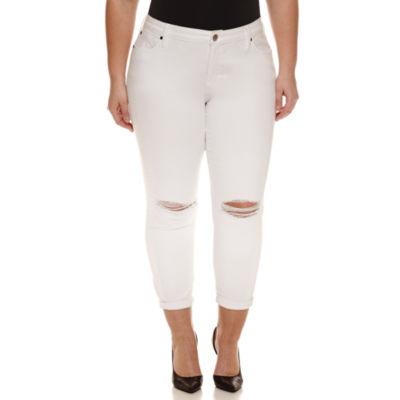 """Boutique + Denim 27"""" Ankle Jeans - Plus"""