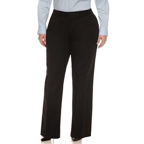 Liz Claiborne Double Cotton Sophie Suiting Pant- Plus