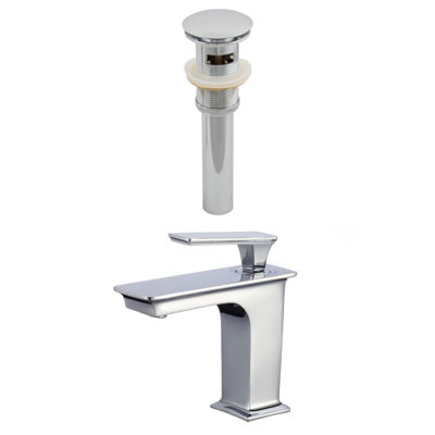 1 Hole CUPC Approved Brass Faucet Set In Chrome Color - Overflow Drain Incl.