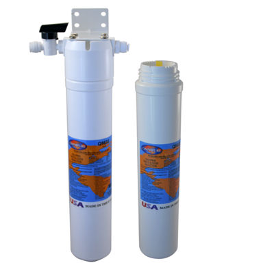 Pure Water Filter FRO-100 and Installation Hanger with a Second Replacement Cartridge
