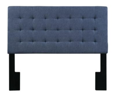 Biscuit Tuft Full / Queen Upholstered Headboard In Denim Darkwash
