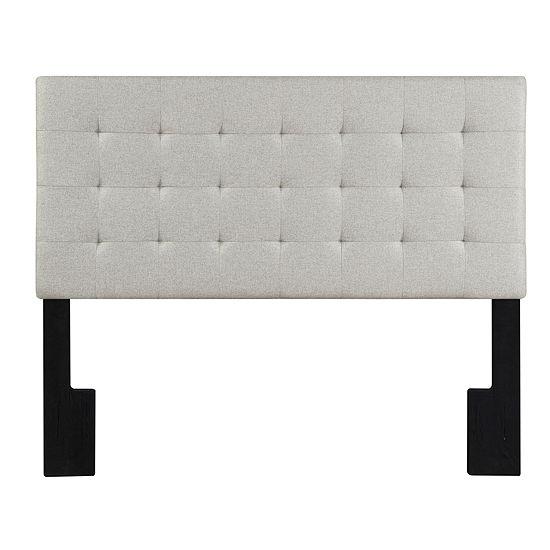 Linen Biscuit Tuft Full / Queen Upholstered Headboard