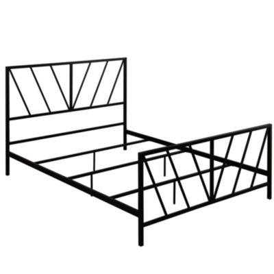 Steel Construction Metal Bed - Queen