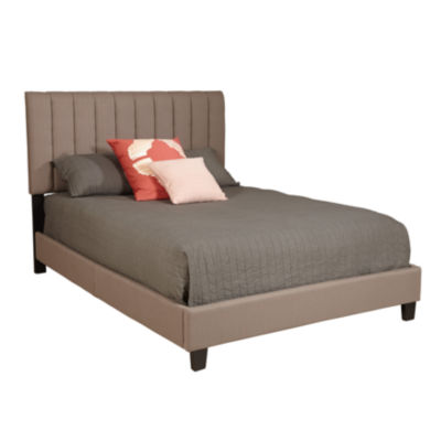 Taupe Upholstery Cover Bed - Queen
