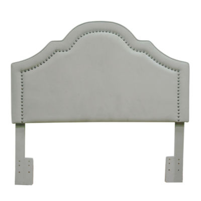 FirsTime® Verona Velvet Upholstered Nailhead Detail Full/Queen Headboard