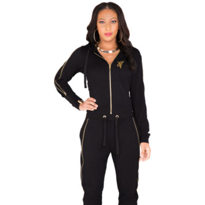 Poetic Justice French Terry Knit Zip Front Hoody
