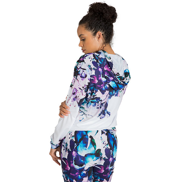 Poetic Justice Printed Active Zip Front Track Jacket