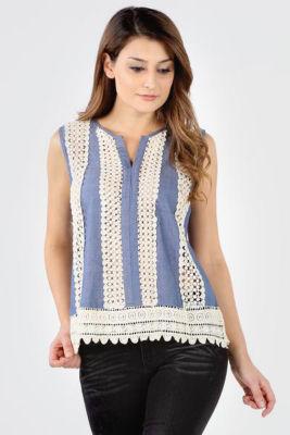 Crochet Embellished Tank