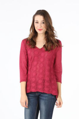 Crochet Front Lined Blouse