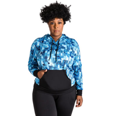 Poetic Justice Printed Pull Over Active Hoody - Plus